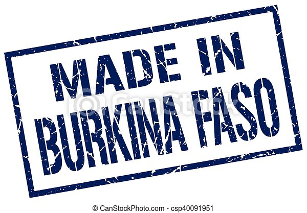 made in Burkina Faso stamp - csp40091951