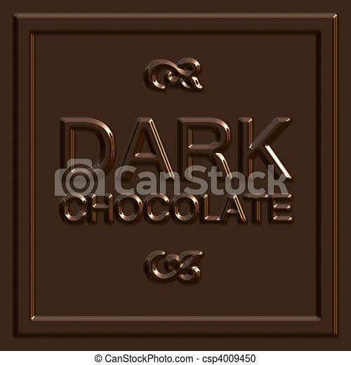 Dark Chocolate Square - csp4009450