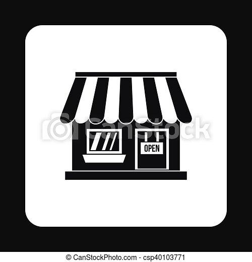Supermarkt gebäude clipart  Vektoren Illustration von gebäude, ikone, stil, supermarkt ...