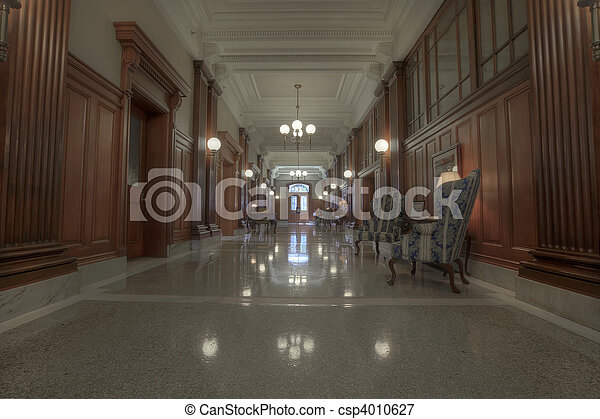 Old Historic Building Hallway - csp4010627