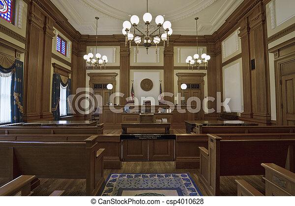 Historic Building Courtroom 3 - csp4010628
