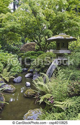 Japanese Stone Lantern - csp4010825
