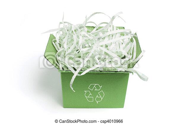 Box of Paper Shreddings - csp4010966