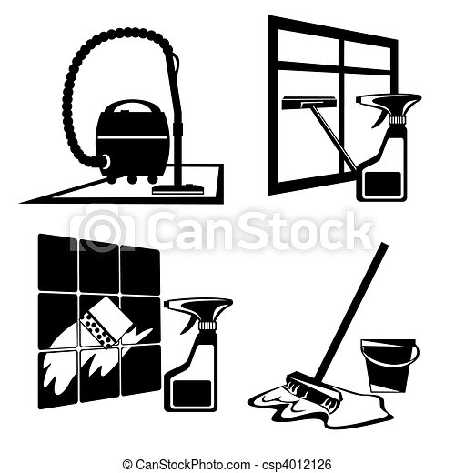 cleaning icons - csp4012126
