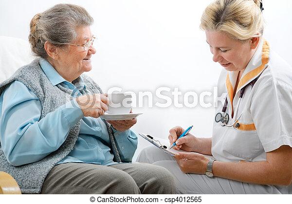 nursing home - csp4012565