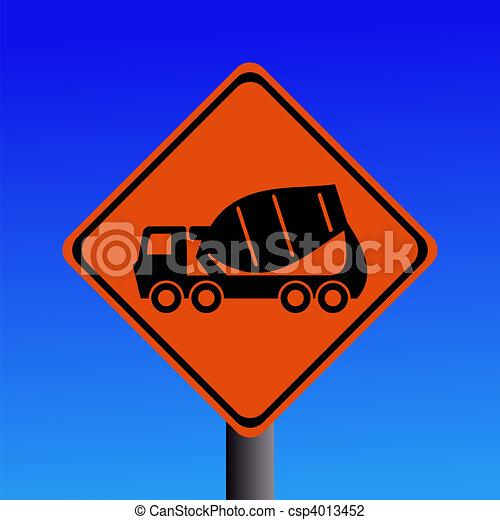 cement mixer sign - csp4013452