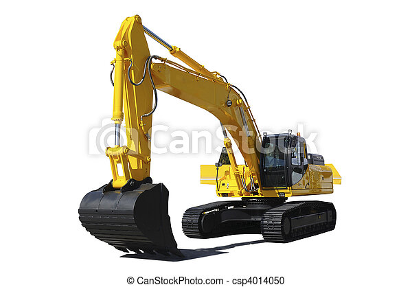 Yellow bulldozer - csp4014050