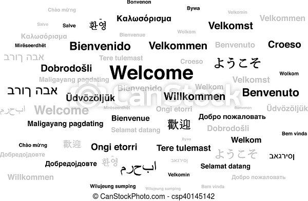 言語, 世界, 別, 歓迎, 句 - csp40145142