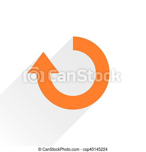 Flat orange arrow iconrefresh, rotation sign - csp40145224