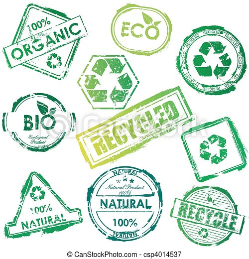 Vector eco stamps - csp4014537