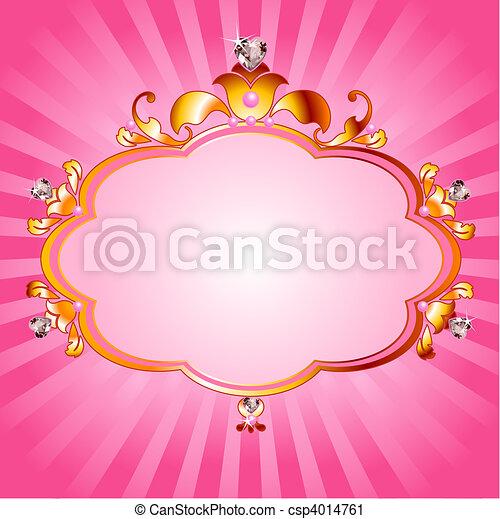 Princess pink frame - csp4014761