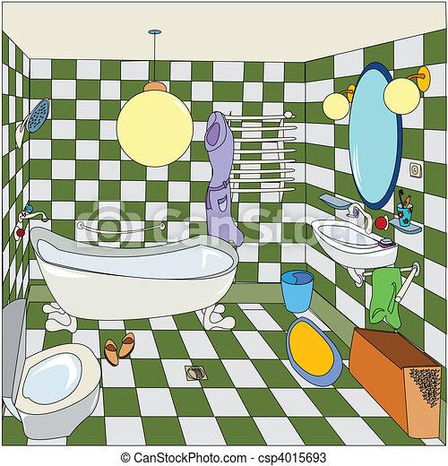 zeichnungen von wenig badezimmer cartoon skizze von. Black Bedroom Furniture Sets. Home Design Ideas
