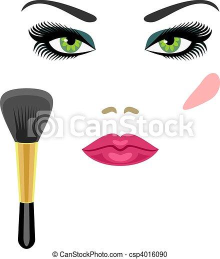 Clip Art Makeup Clip Art makeup illustrations and stock art 31010 illustration sample for green eyes a brush for