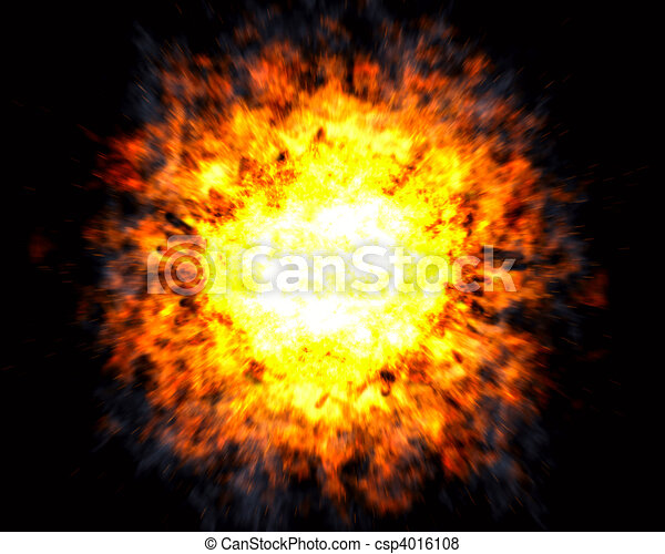 Explosion with white hot center - csp4016108