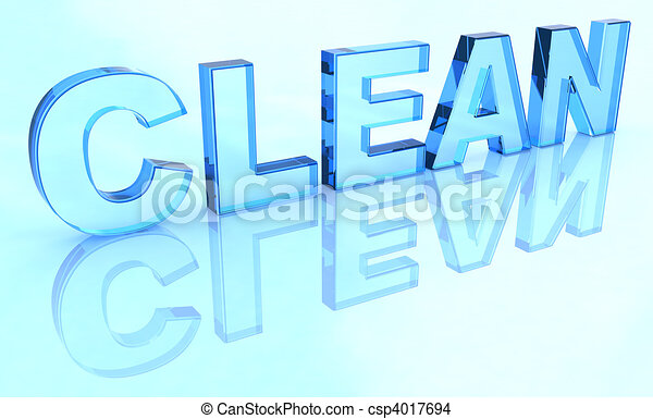 Crystal clean sign  - csp4017694