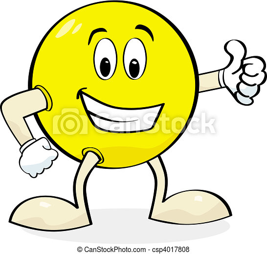 Cartoon giving thumbs up - csp4017808