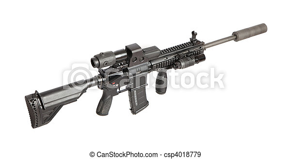 US Army M4 rifle - csp4018779
