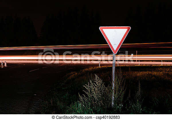 Road sign give way - csp40192883
