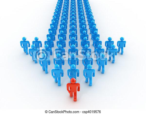 Team walking forward - csp4019576