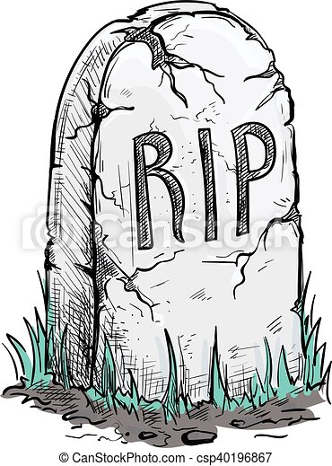 Clip Art Vector of RIP tomb grave stone sketch icon - Scary ...