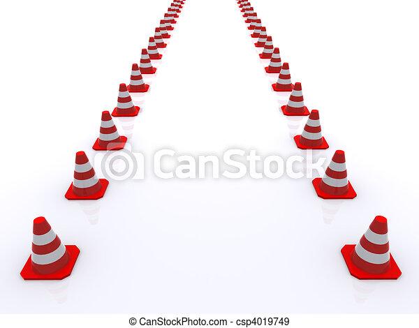 Traffic cones - csp4019749
