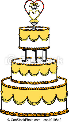 Wedding Cake - csp4019843