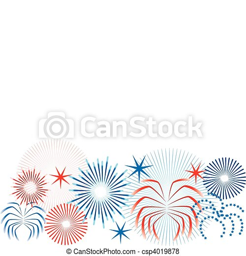 July 4th Icons - csp4019878