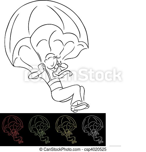 Black And White Parachute Clipart Businessman parachute -
