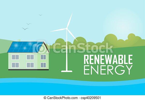 Renewable energy. Sun and wind generation - csp40209501