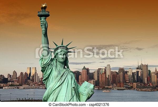 new york cityscape, tourism concept photograph - csp4021376