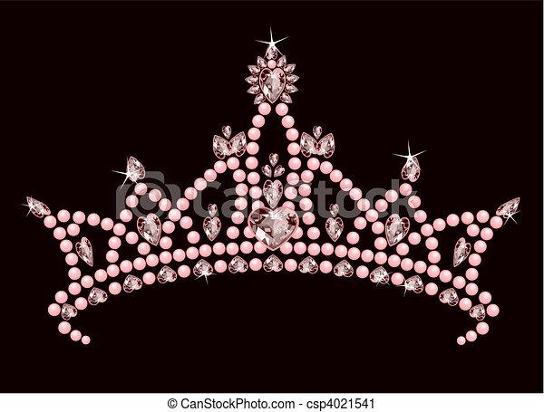 Clip art vecteur de couronne princesse beau briller - Clipart couronne ...