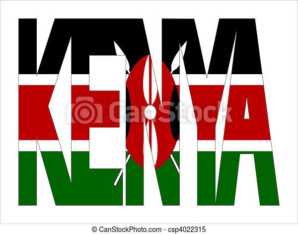 overlapping Kenya text - csp4022315