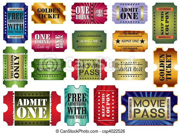 admit one tickets - csp4022526