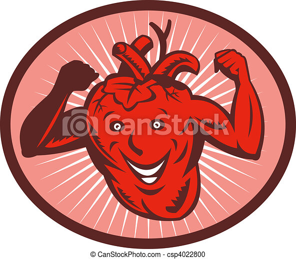 Happy and healthy  heart flexing its muscle - csp4022800