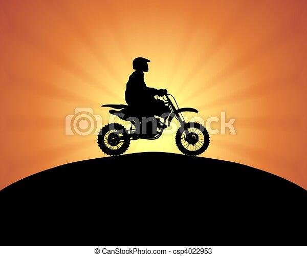 motor biker - csp4022953
