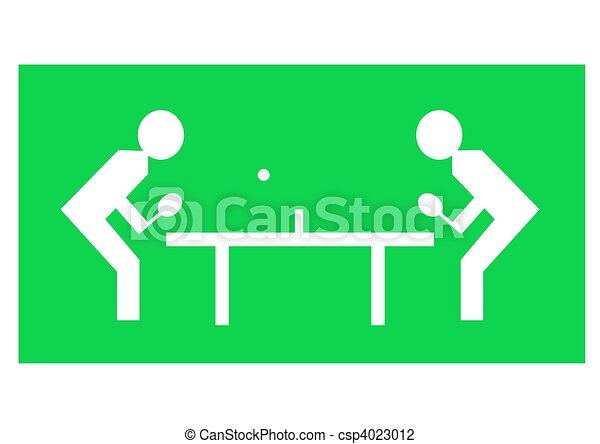 Clip Art of Table tennis - Illustration of two characters playing ...