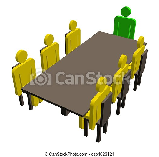 Meeting around a table - csp4023121
