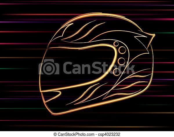 motorbike helmet - csp4023232