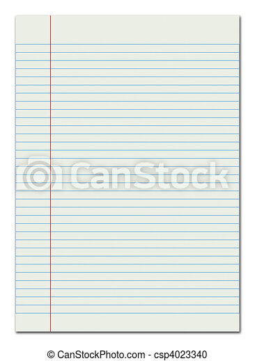 Red lined paper