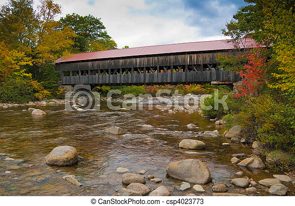 New England covered bridge - csp4023773
