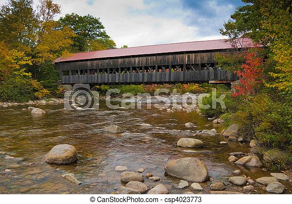 New England covered bridge - csp4023773
