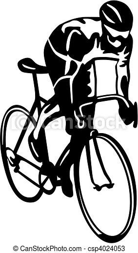 Vecteurs de cycliste csp4024053 recherchez des images - Dessin cycliste ...