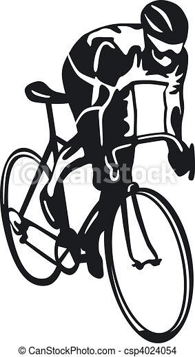 Dessin de cycliste csp4024054 recherchez des - Cycliste dessin ...