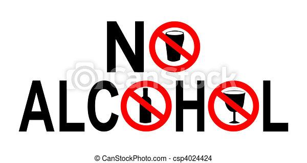 no alcohol sign - csp4024424