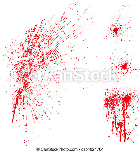 Vector Blood Spatter - csp4024764