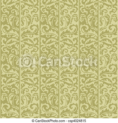 Vector Seamless Floral Pattern - csp4024815