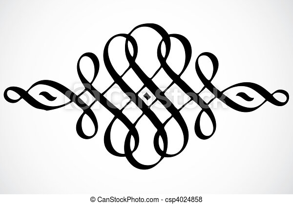 Vector Swirl Ornament - csp4024858