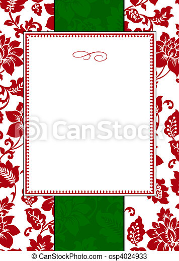 Vector Holiday Frame and Pattern - csp4024933