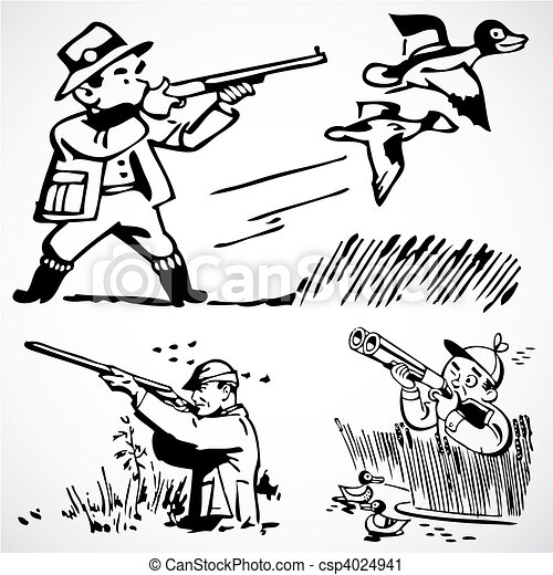Vector Vintage Hunting Graphics - csp4024941
