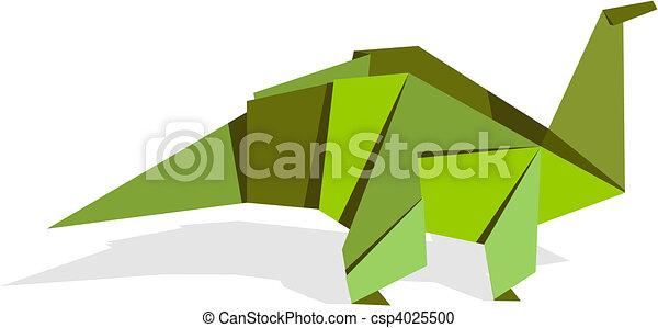 Vibrant colors origami dinosaur - csp4025500